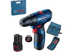 Bosch GSR 12V-15 Professional Aku vŕtací skrutkovač 12 V, 2 x 2,0 Ah, L-BOXX 0601868109