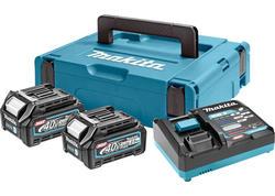 Makita 191J97-1 Set akumulátorov BL4040 x2 +DC40RA + kufrík