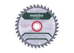 """Metabo Pílový kotúč """"PRECISION CUT WOOD - CLASSIC"""", 165x20 Z36 WZ 15°, 628281000"""
