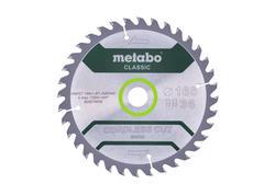 "Metabo Pílový kotúč ""CORDLESS CUT WOOD - CLASSIC"", 165X20 Z36 WZ 15°, 628279000"
