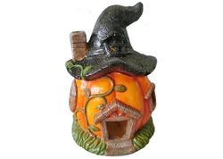 MagicHome Xecco 2334 Dekorácia Tekvica, domček, magnesia, 30 cm