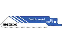 """Metabo 5 Pílových listov do chvostovej píly """"FLEXIBLE METAL"""" 100 x 0,9 mm, 628267000"""