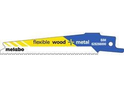 """Metabo 5 Pílových listov do chvostovej píly """"FLEXIBLE WOOD + METAL"""" 100 x 0,9 mm, 628266000"""