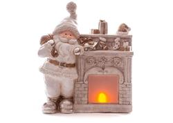 MagicHome Xecco 19105 Dekorácia Santa pri krbe, LED, 3xAAA