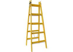 Strend Pro DRD A Rebrík drevený 4 priečkový, 134 cm