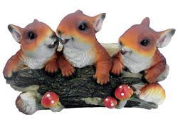 Magic Home Dekorácia Gecco 5033, Veveričky na konári, polyresin