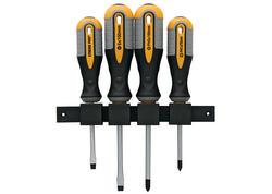 Strend Pro SDX72-204 Sada skrutkovačov, 4 dielna, s držiakom na stenu, ploché + Phillips