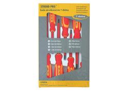 Strend Pro YF20719 Sada skrutkovačov, VDE 7 dielna, ploché + Phillips, elektrikárske, 1000V