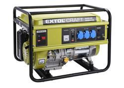 Extol Craft 421010 Elektrocentrála rámová benzínová, 1F, 5,5kW/230V