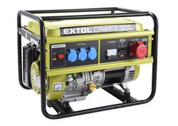 Extol Craft 421011 Elektrocentrála rámová benzínová, 1F, 5,5kW/400V, elektrický štart