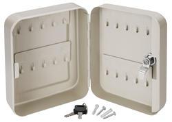 Extol Craft 99020 Schránka na kľúče oceľová, 200x160x80mm, 20 háčikov, 2x kľúč
