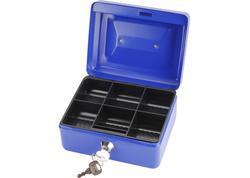 Extol Craft 99010 Pokladnička prenosná oceľová, 152x118x80mm, 2x kľúč