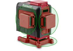 Fortum 4780216 Vodováha laserová krížová samonivelačná, 3D (3x360°), zelený lúč, Li-ion akumulátor, USB nabíjanie