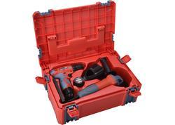 Extol Premium 8898311 Sada elektronáradia v kufríku: aku vŕtačka 2x12V Li-ion, 1,3Ah a uhlová brúska 125mm