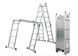 G21 Hliníkové štafle GA-SZ-4x4-4,6M multifunkčné + podlážka