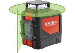 Extol Premium 8823307 Vodováha laserová samonivelačná, 1D1V(1H360+1V), zelený laser