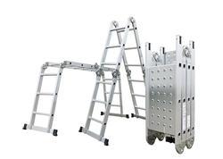 G21 Hliníkové štafle GA-SZ-4x3-3,7M multifunkčné + podlážka