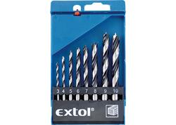 Extol Craft 1142 Vrtáky do dreva, 8-dielna sada, pr. 3-4-5-6-7-8-9-10mm
