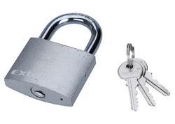 Extol Craft 77040 Zámok visací liatinový, 3 kľúče, 63mm