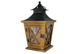 MagicHome 2170322 Lampáš WL8680, 19x19x36 cm, LED, 3xAAA, drevo