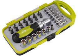 Extol Craft 53091 Skrutkovač na bity račňový, magnetický, 30-dielna sada