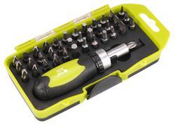 Extol Craft 53092 Skrutkovač na bity račňový, magnetický, 38-dielna sada