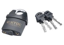 Extol Premium 8857750 Zámok visací bezpečnostný vodeodolný, 4 kľúče, 50mm