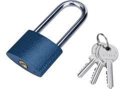 Extol Craft 93252 Zámok visací liatinový predĺžený 52mm, 3 kľúče