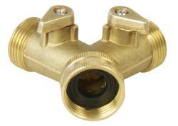 Extol Premium 8876042 Ventil mosadzný / rozdvojka, 3/4'', mosadz
