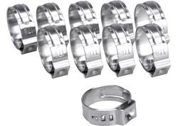 "Extol Premium 8865175 Spona na 3/8"" pneumatickú hadicu, 10ks, pr. 14.6mm - 17.8mm, antikoro"