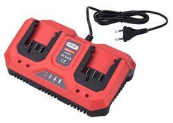 Extol Premium 8895791 Nabíjačka akumulátorov 20V/2x2,4A pre záhradné aku náradie
