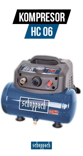 Bezolejový kompresor Scheppach HC 06 6L